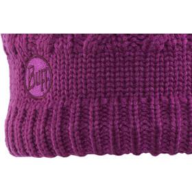 Buff Savva Bonnet en laine polaire et tricotée Femme, mardi grape